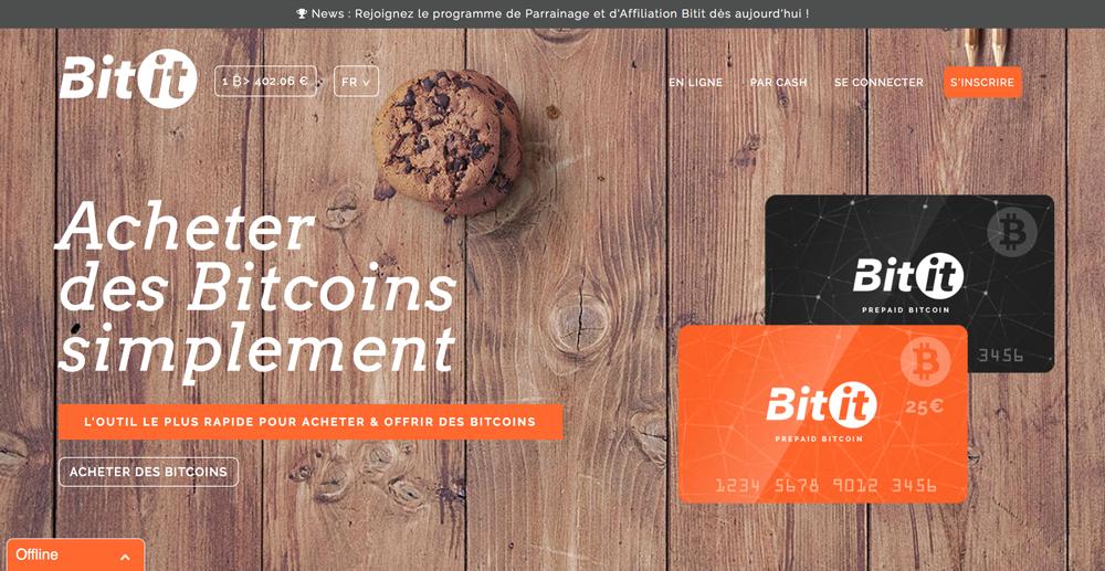 Acheter bitcoin avec Neosurf sur Bitit